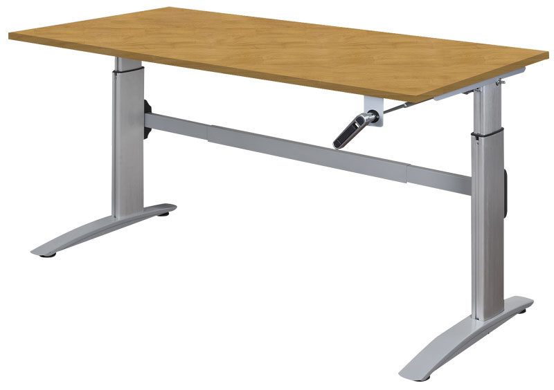 Deluxe manual height adjustable desk with bespoke finish options