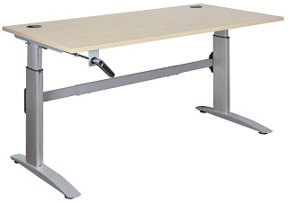 Deluxe manual height adjustable Desk,delivered and installed