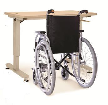 Height Adjustable Wheelchair-Friendly Table Assembled Delivery