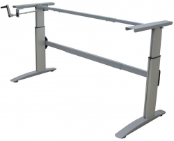 Deluxe Manual Sit to Stand, Height Adjustable Desk Frame.