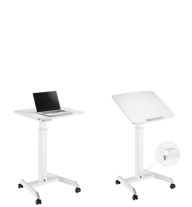 Mobile, Tilting Top, Height Adjustable, Sit to Stand worktable - Click Image to Close