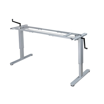 Manual, Hand Crank Sit/Stand Height Adjustable Desk frame,