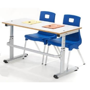 Height Adjustable School Desk NSTD with 1200mm x 600mm Top