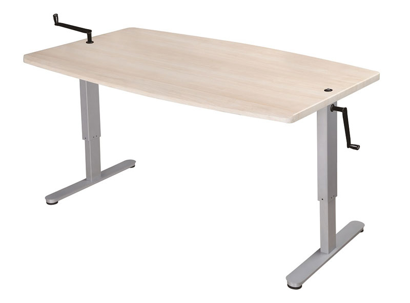 Manual Hand crank, height adjustable desk. Sit or Stand FSS
