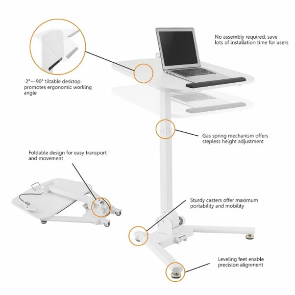 Adjustable tilting workstation Technical Information